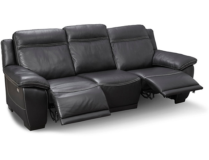 Natuzzi B875 Power Reclining Leather Sofa