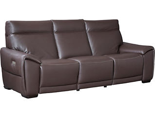 C048 Dual Power Leather Reclining Sofa, , large