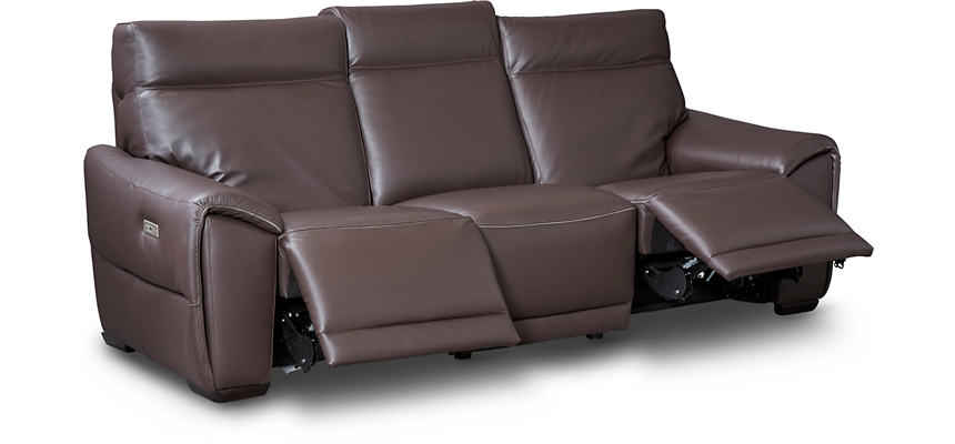 Marvelous C048 Dual Power Leather Reclining Sofa Machost Co Dining Chair Design Ideas Machostcouk