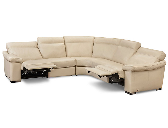 3 Piece Power Sectional, Beige, , large