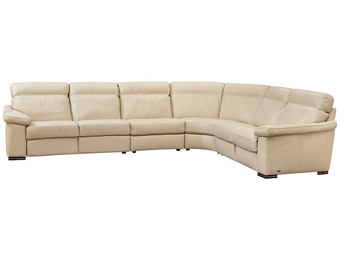 4 Piece Power Reclining Sectional, Beige, , large
