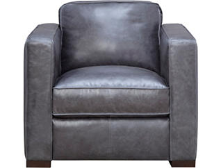 Gianni Blue Leather Chair, , large