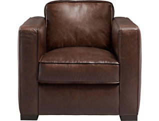 Gianni Brown Leather Chair, , large