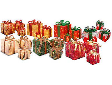 Pre-Lit Gift Boxes Collection, , large