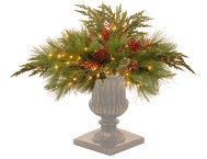 shop White Pine Urn w/ Lights