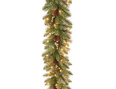 9ft Gold Garland w/ Lights, , large