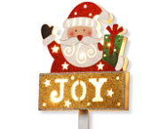 shop Pre-Lit Santa & JOY Sign
