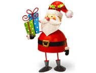 shop Metal Bobble Santa