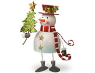 shop Metal Bobble Snowman