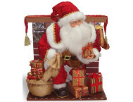 shop Santa At Fireplace