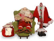 shop Santa With Coat Rack