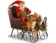 shop Santa On Sleigh