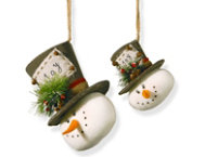 shop Snowman Ornament Set