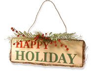shop Happy Holiday Door Sign