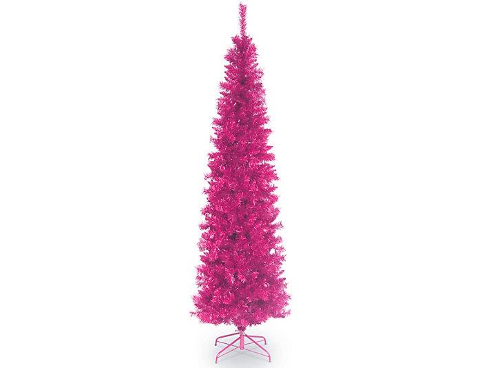 Pink 7ft Tinsel Tree, , large