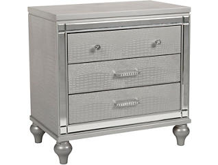 Valentino Silver Nightstand, , large