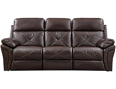 Nova Chocolate Power Reclining Sofa, , large