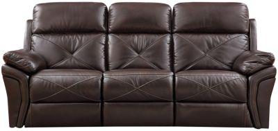 Nova Chocolate Power Reclining Sofa Large