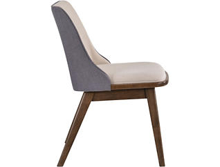 Oscar Walnut/Beige,Grey Uph Uph Chair, , large