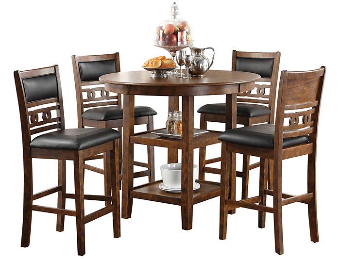 Gia Espresso 5 Piece Couner Table Set