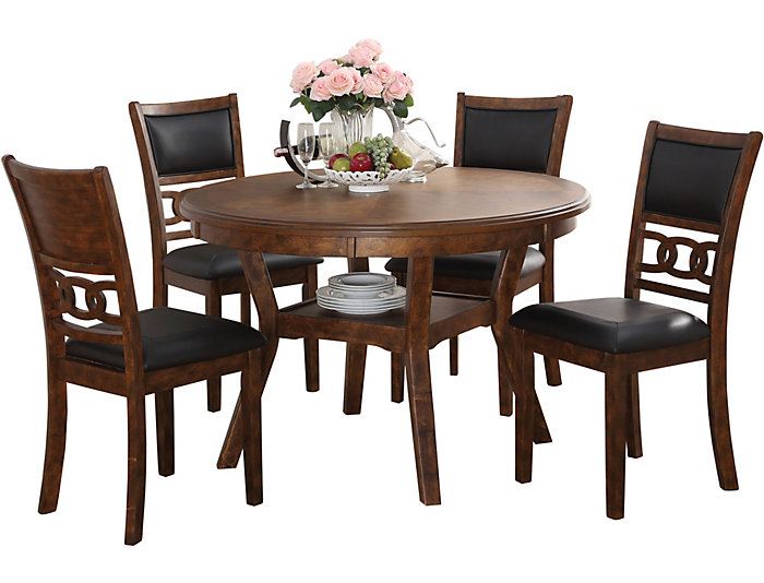 Gia Espresso 5 Piece Dining Set