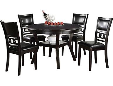 Gia Ebony 5 Piece Dining Set, , large