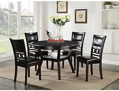 Gia Ebony 5 Piece Dining Set, Black, large