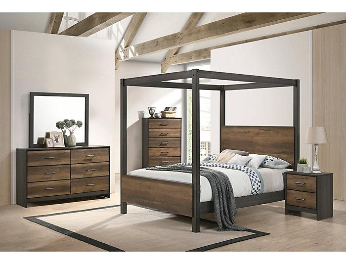 Timarron 3 Piece King Canopy Bedroom Set