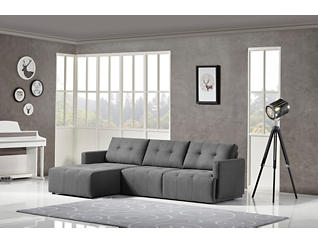 Colony Charcoal Modular Left-Arm Facing Sofa Chaise, , large