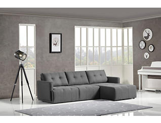 Colony Charcoal Modular Right-Arm Facing Sofa Chaise, , large