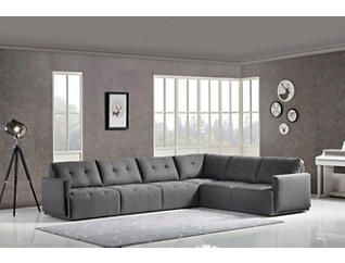 Colony Charcoal 4 Piece Modular Sectional, , large