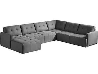 Colony 5 Piece Modular Sectional with Left-Arm Facing Chaise, , large