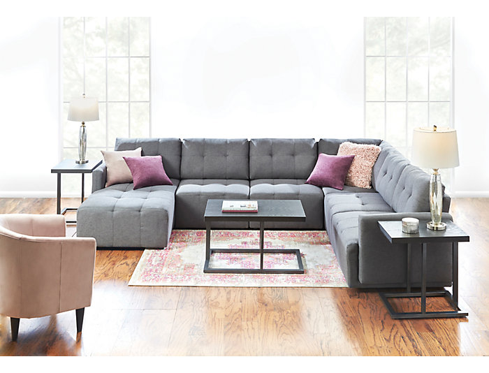 Colony 5 Piece Right Arm Facing Chaise Modular Sectional ...