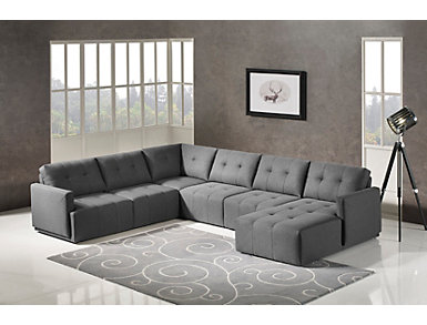 Colony 5 Piece Modular Sectional with Right-Arm Facing Chaise, , large
