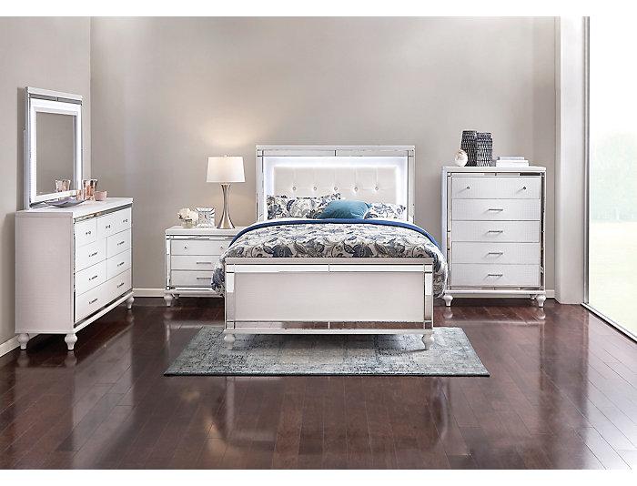 Valentino White Queen Bedroom Set