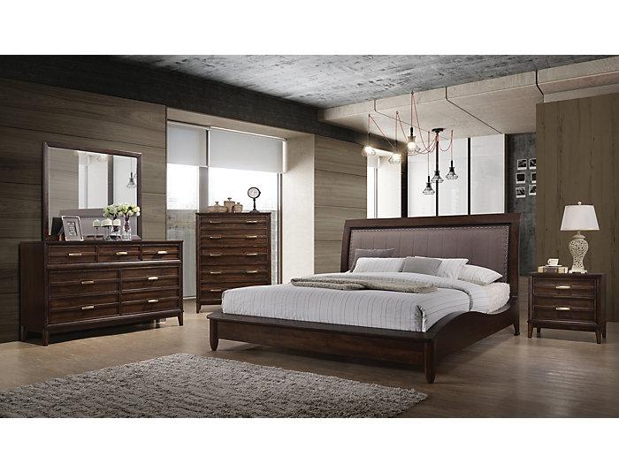 Windsong Walnut Queen Bedroom Set | Outlet at Art Van