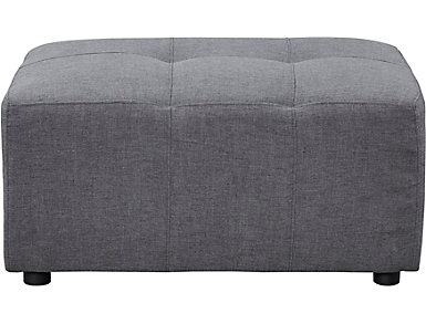 Colony Charcoal Cocktail Ottoman, , large
