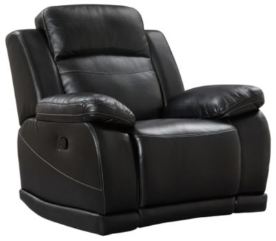 Vega Power Glider Reclinerwith LED Lights, Black, Black, swatch