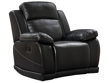 Vega Power Glider Reclinerwith LED Lights, Black, Black, large
