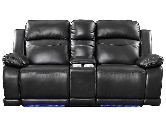 Excellent Vega Black Reclining Loveseat Ocoug Best Dining Table And Chair Ideas Images Ocougorg