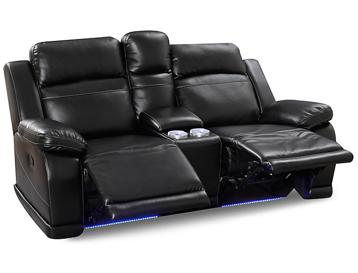 Terrific Vega Black Reclining Loveseat Ocoug Best Dining Table And Chair Ideas Images Ocougorg