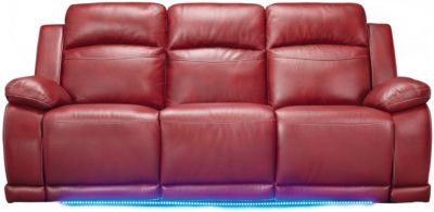 Vega Power Reclining Sofa, Red, swatch