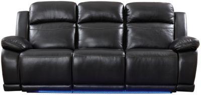 Vega Power Reclining Sofa, Black, swatch