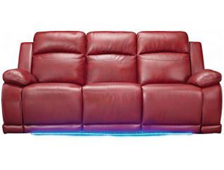 Vega Power Reclining Sofa, Red, large
