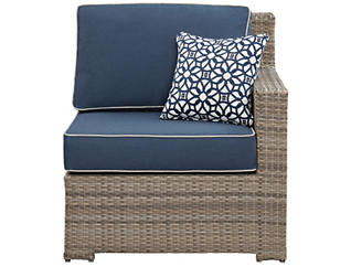 Carmel Right Facing Chair, Blue, , large