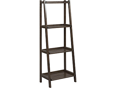 Radford Espresso Ladder Shelf, , large