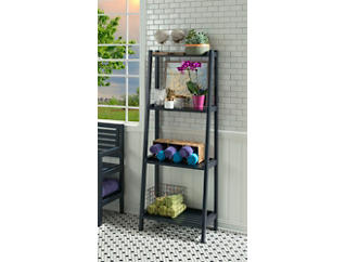 Radford Graphite Ladder Shelf, Grey, large
