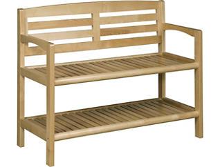 Alder Blonde Storage Bench, , large