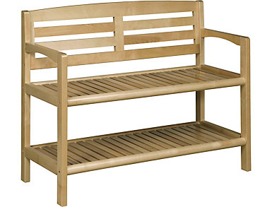 Alder Blonde Storage Bench, , large