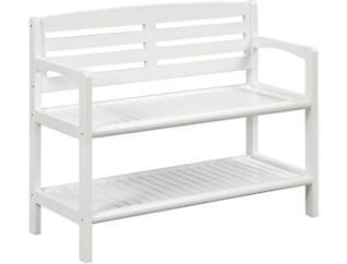 Alder White Storage Bench, , large